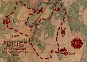 wandelknooppunten kaart